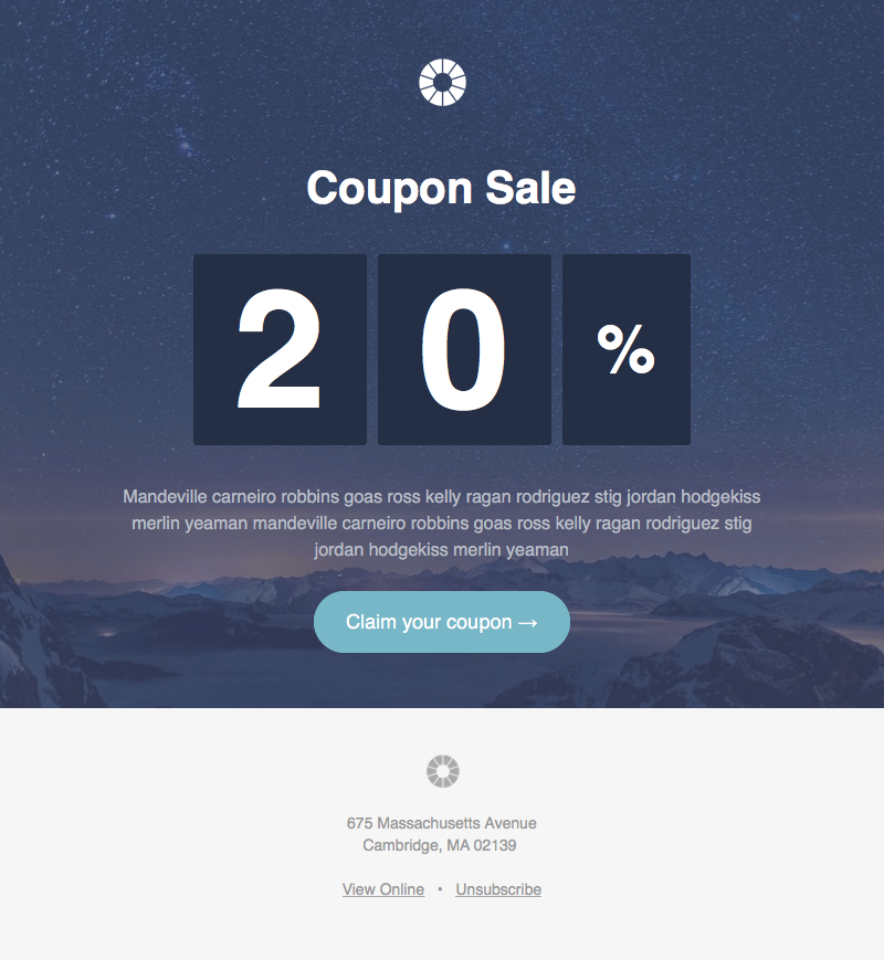 Pook Coupon Responsive HTML newsletter template